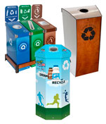 Customizable School Recycling and Trash Bins