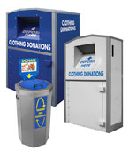 Large Donation Bins and Textile Clothing Recycling Bins