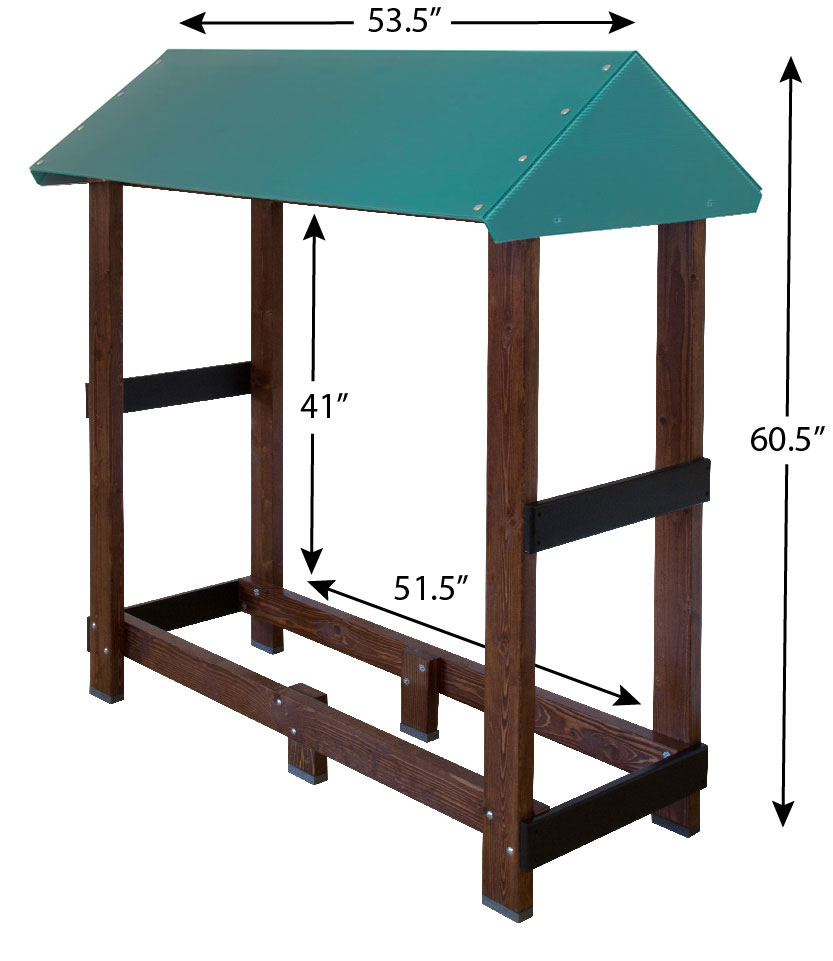 this designed firewood rack keeps firewood dry and easily accessible - Firewood Racks