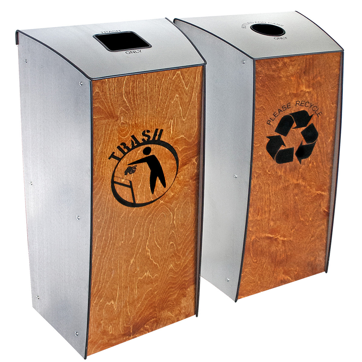 Evolution-40™ Trash & Bottle/Can Recycling 2-Bin System