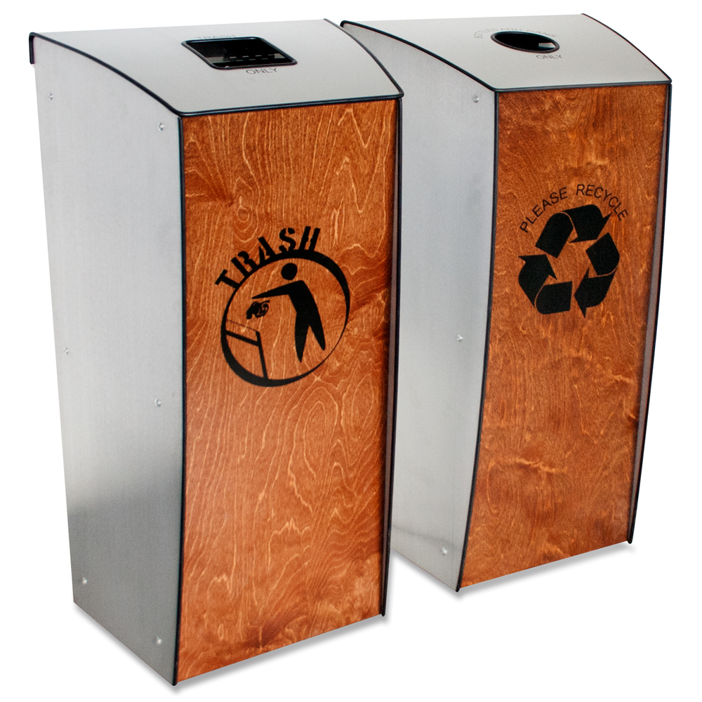 Evolution-80™ Recycling and Waste 2-Bin Station