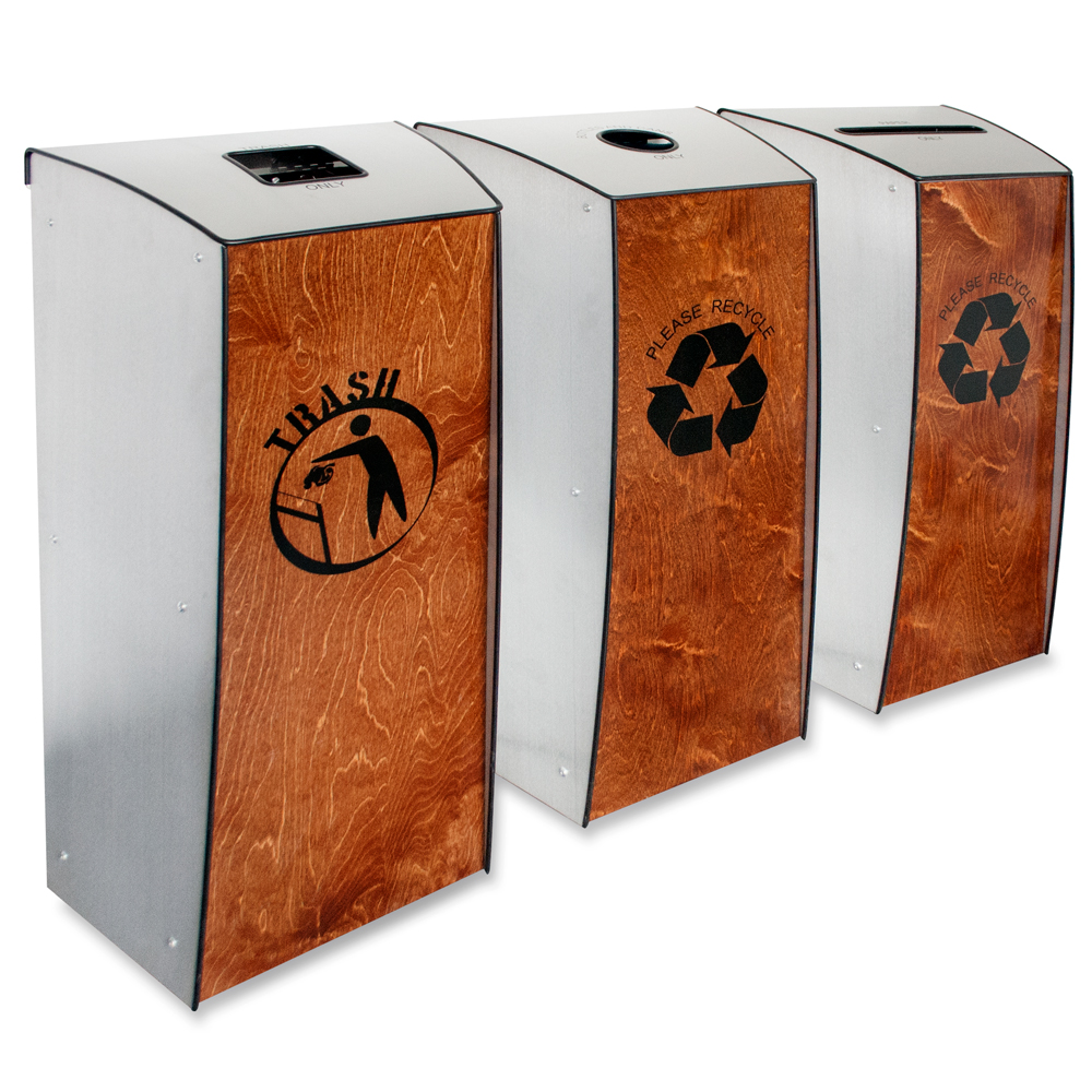 Evolution-120™ Trash & Recycling 3-Bin System