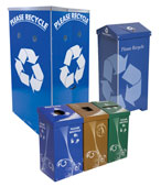 Temporary Recycling Bins, Trash Cans and Stations