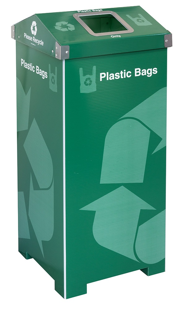 Green A-Bin™ 40 Gallon Plastic Bag Recycling Bin
