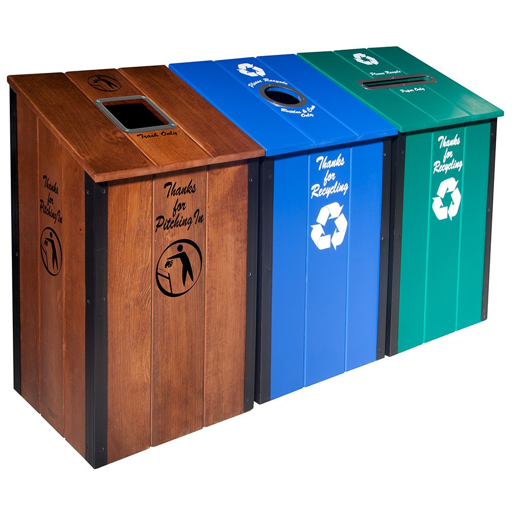 The Heritage Series™ - Multi-Color - 3-Bin Station