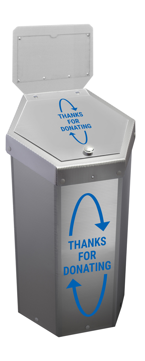 Hexcycle® IV Donation Bin - 23 Gallons