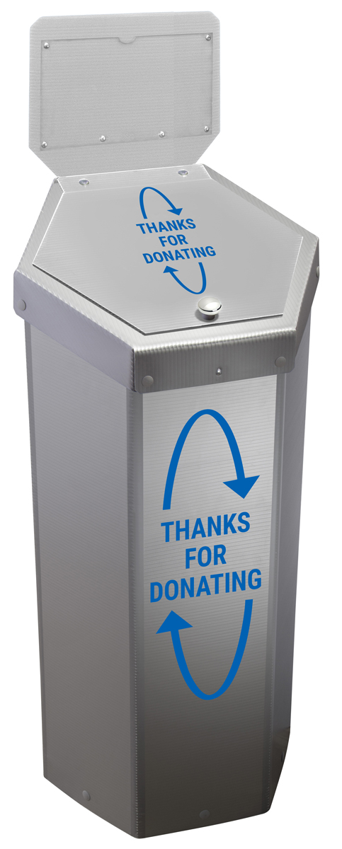 Hexcycle® IV Donation Bin - 30 Gallons