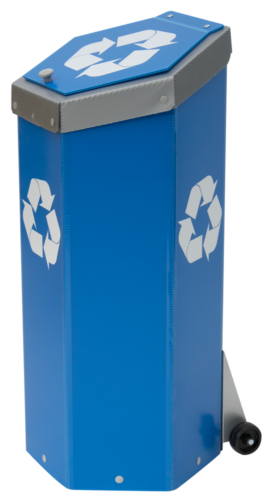 Hexcycle® IV - Tilt & Push - Blue Recycling Bin