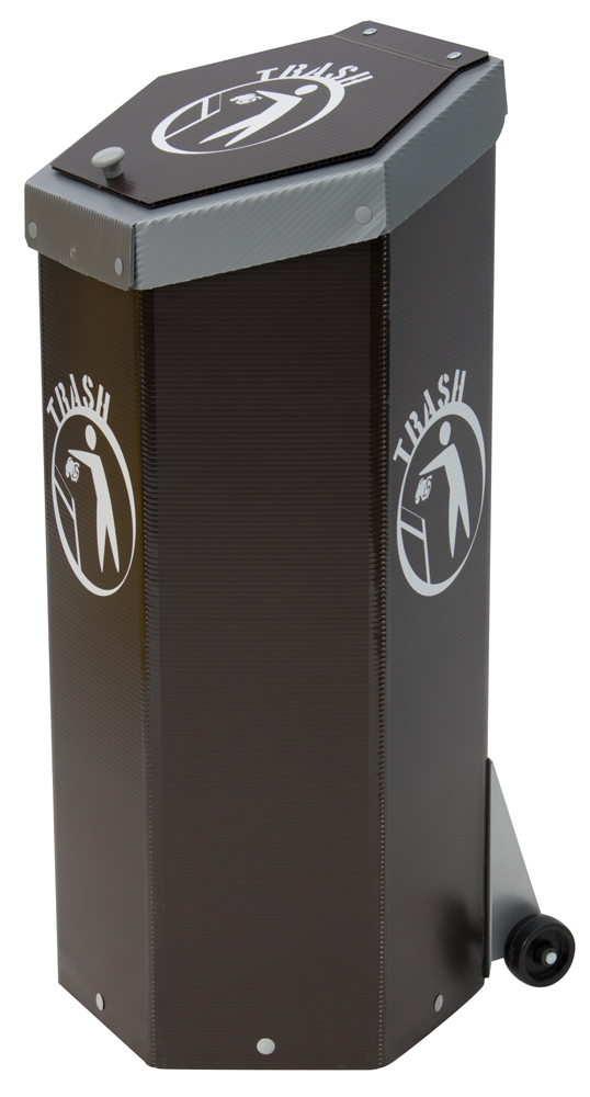 Hexcycle® IV - Tilt & Push - Brown Trash Bin