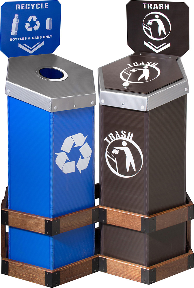 Can & Bottle and Trash 2-Bin Hexstation™