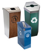 Indoor Recycling Bins, Trash Cans and Stations