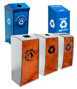 Industrial Recycling Bins, Trash Cans and Stations
