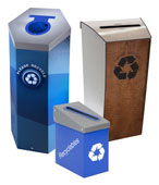 Corporate Office Recycling Bins and Trash Cans