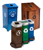 Outdoor Recycling Bins, Trash Cans and Stations