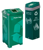 Plastic Bag Recycling Bins for Grocery & Shopping Bags