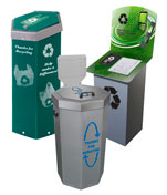 Retail Store Recycling Bins and Trash Cans
