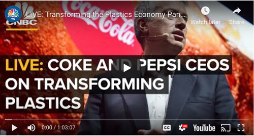 Watch Coca-Cola, Pepsi CEOs discuss plastics at the World Economic Forum