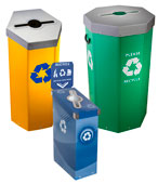 Single Stream Recycling Bins & Mixed Recycling Containers