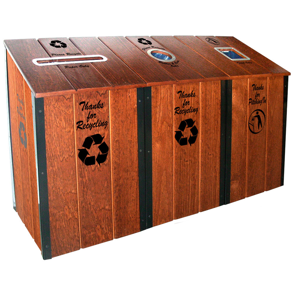 The Heritage Series™ - Mahogany - 3-Bin Station