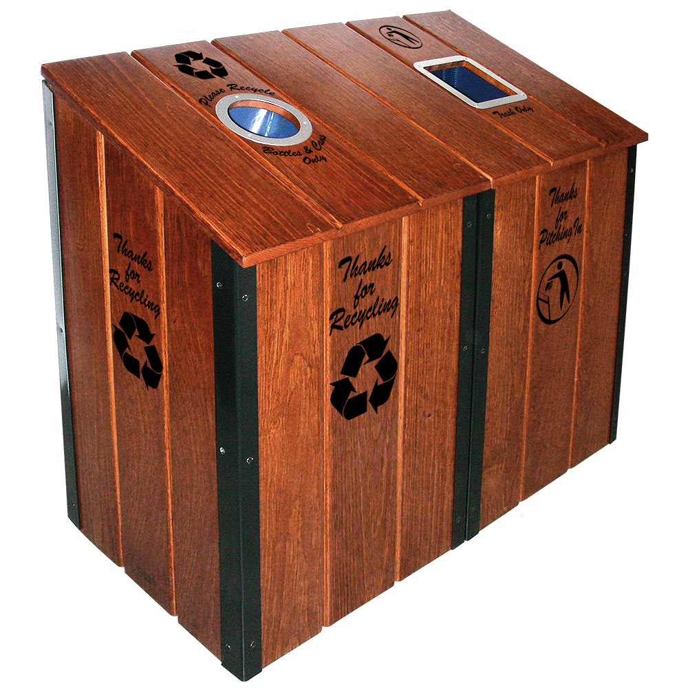 The Heritage Series™ - Mahogany 2-Bin Station