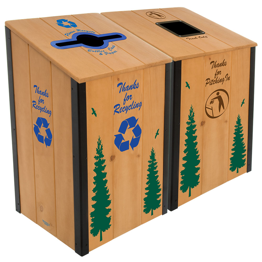 The Heritage Series™ - Natural Wood 2-Bin Station