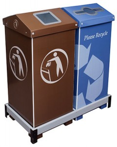 Dual A-Bin Recycling/Trash Collection System