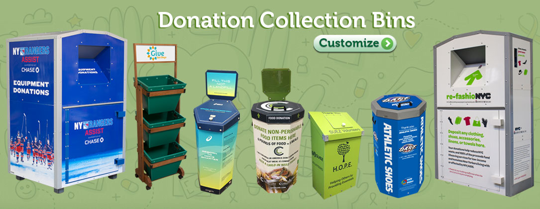 Donation Bins For Clothing Shoes Food Books Sports