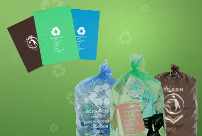 Recycling Bin Liners & Recycling Bags | Garbage Can Liners & Trash Bags