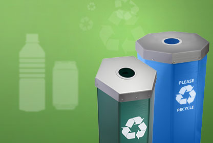 Bottles And Cans Aluminum Glass Plastic Recycling Bins