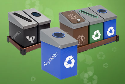 Under The Desk Portable Compact Recycling Bins And Trash