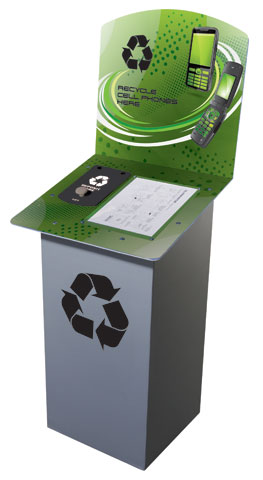 Cell Phone Recycling Bin