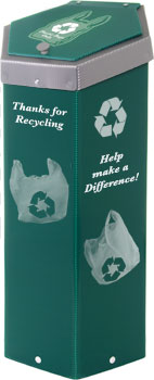 Hexcycle® IV Plastic Bag Recycling Bin