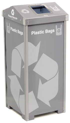 Plastic Bag Recycling Bins For Grocery Bags And Shopping Bags