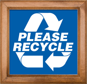Please Recycle Sign Framed