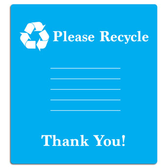 Please Recycle Sign with Identification Labels -  5 Pack