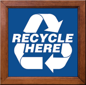 Recycle Here Sign Framed
