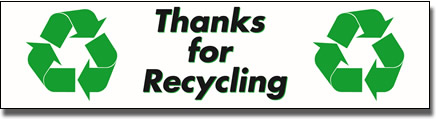 Thanks for Recycling Sign - 10 Pack