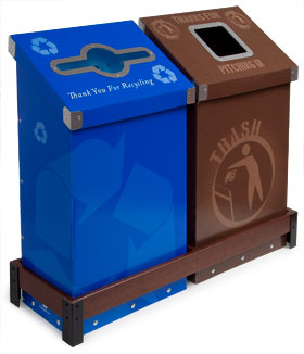 Wedgecycle™ 2 Bin Station