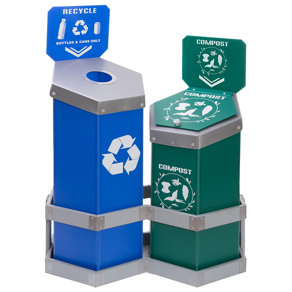 Recycling Bins for Schools & College Campuses | Trash Containers