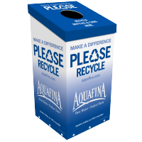 Aquafina Squarecycle™ Recycling Bin