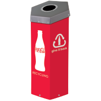 Coke Hexcycle® Recycling Bin