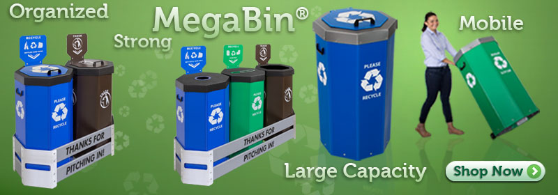 Megabin® Recycling Bins, Trash Cans and Stations