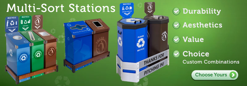 Multi-Sort Recycling Centers, Single Stream and Waste Stations